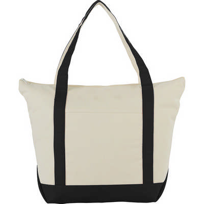 12 Oz. Zippered Cotton Canvas Tote - (printed with 4 colour(s)) SM-7214_BUL