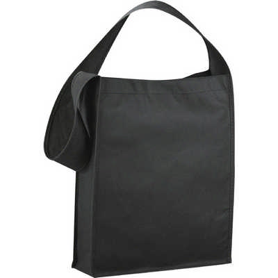 Cross Town Non-woven Shoulder Tote - (printed with 1 colour(s)) SM-7331_BUL