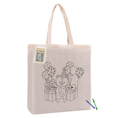 Colouring Calico Bag With Gusset CCB002_DEX