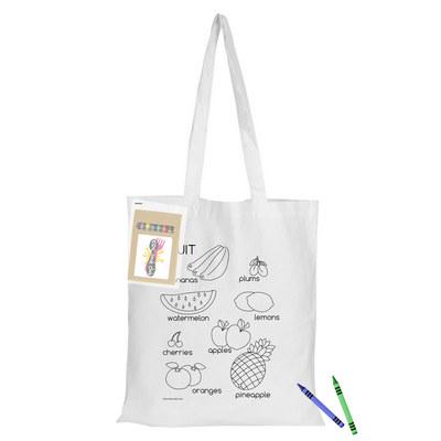 Colouring White Calico Bag No Gusset CCB005_DEX