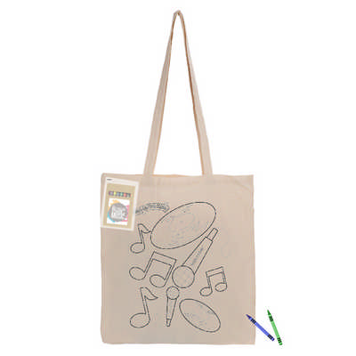 Colouring Long Handle Calico Shopper CCB009_DEX