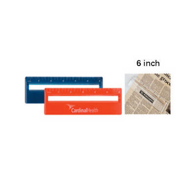15cm Ruler With Colour And Magnifying DS063TL_DEX