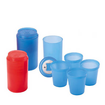 Drinking Bottle With 4pcs Min Cup Inside With Bottle Opener DS090_DEX