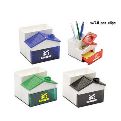 Pen Holder With Memo Holder With Clips DS225_DEX