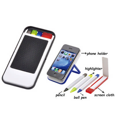 Mobile Holder With Pen Sets And Cloth DS523_DEX