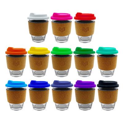 Carlo Glass Coffee Cup - Cork Band EK013_DEX