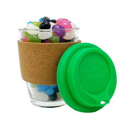 Jelly Bean In Cork Band Glass Coffee Cup - (printed with 1 colour(s)) JB012_DEX