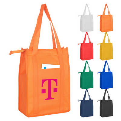 Non Woven Cooler Bag With Top Zip Closure NWB015_DEX