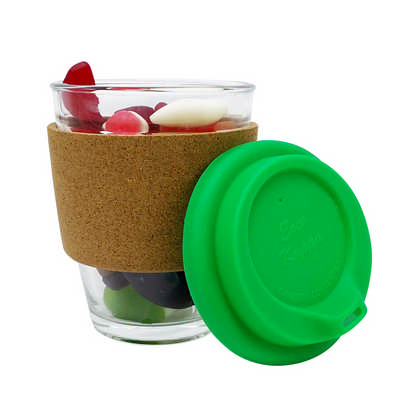 Jelly Party Mix In Cork Band Glass Coffee Cup PM005_DEX