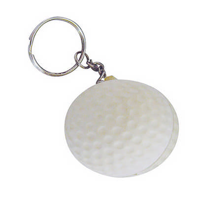 Stress Golf Ball Key Ring SKR017_DEX