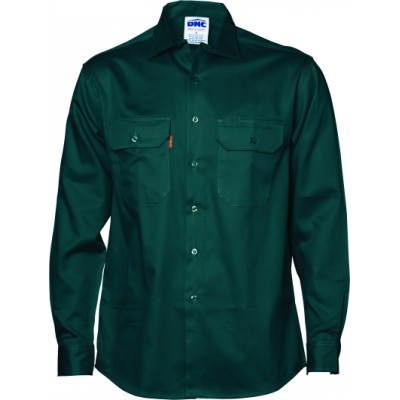 Cotton Drill Work Shirt - Long Sleeve 3202_DNC