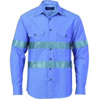 Ctn Chambray Shirt w/ CSR RTape-LS 3889_DNC