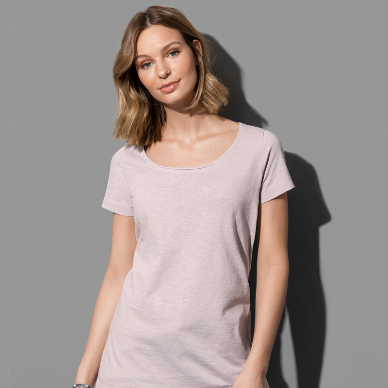 Womens Sharon Oversized Slub Crew Neck ST9550_LEGEND