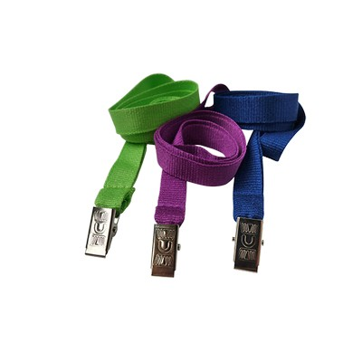 Bamboo 15mm Lanyard With Alligator Unprinted - (printed with 1 colour(s)) LBB15AC_EZI