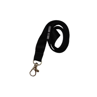 Bamboo 15mm Lanyard With Carabiner And Breakaway Unprinted - (printed with 1 colour(s)) LBB15CBBABLK_EZI