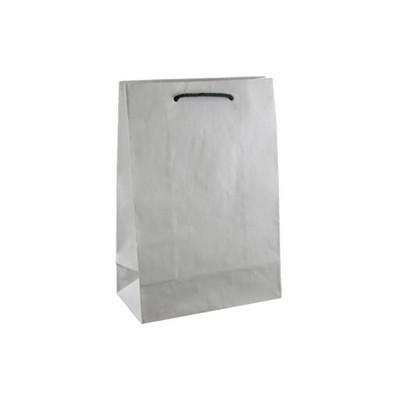 Junior Deluxe White Kraft Paper Bag Printed - (printed with 1 colour(s)) KBWJRFP_EZI