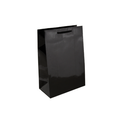 Baby Black Gloss Laminated Paper Bag Printed - (printed with 1 colour(s)) KBLBBFP_EZI