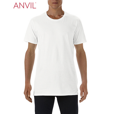 Anvil Adult Lightweight Long and Lean Tee White 5624_WHITE_GILD