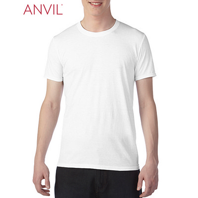 Anvil Adult Tri-Blend Tee White 6750_WHITE_GILD