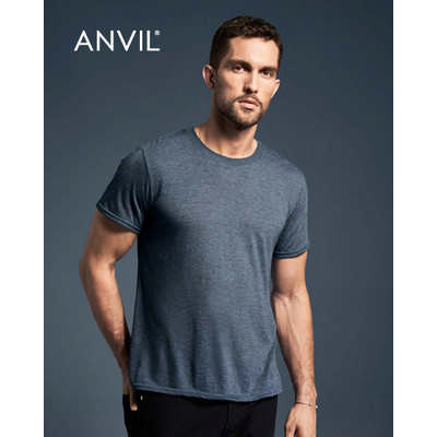 Anvil Adult Tri-Blend Tee Colours 6750_COLOURS_GILD