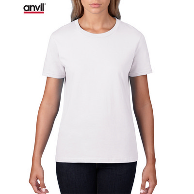 Anvil Women`s Lightweight Tee White  880_WHITE_GILD