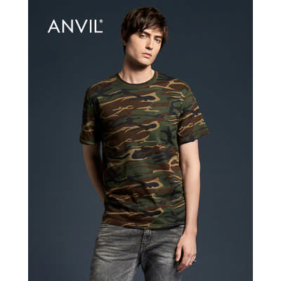 Anvil Adult Midweight Camouflage Tee Colours 939_COLOURS_GILD