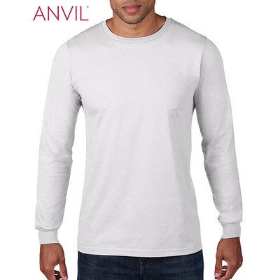 Anvil Adult Lightweight Long Sleeve Tee White 949_WHITE_GILD