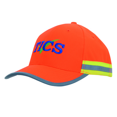Hi Viz  cap with reflectice tape 3030_HDW