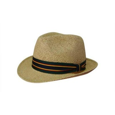 Natural Fedora Style String Straw Hat S4287_HDW