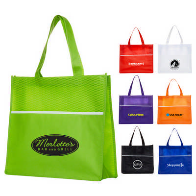 Shopping Tote Bag with Waves - (printed with 1 colour(s)) B563_PB