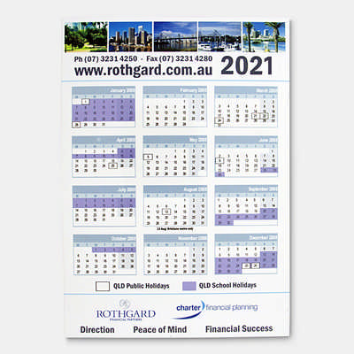 Magnetic Tab Calendar - (printed with 1 colour(s)) CL102_PB