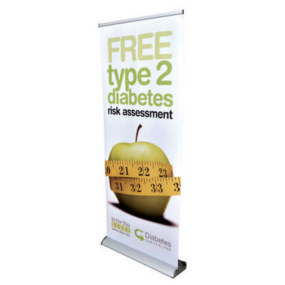 The Deluxe 850mm Roll Up Banner - (printed with 1 colour(s)) RB191-850_PB