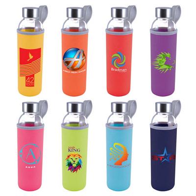 Capri Glass Bottle / Neoprene Sleeve LL1398_LL