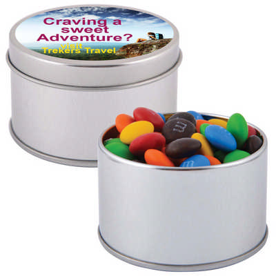 M&m S In Silver Round Tin LL3401_LL