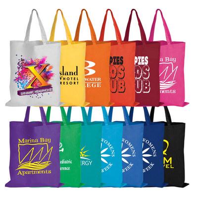 Coloured Cotton Short Handle Tote Bag LL509_LL