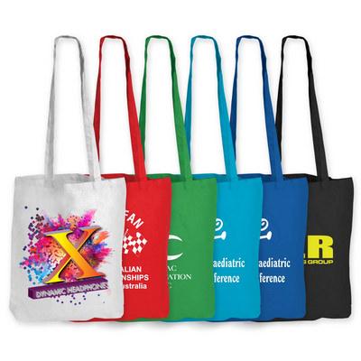 Coloured Cotton Long Handle Bag LL510_LL