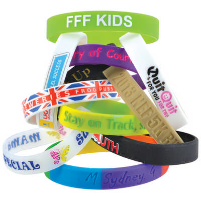 12mm Wide Silicone Wrist Band - (printed with 1 colour(s)) LN0065_LL