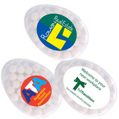 Egg Shape Sugar Free Breath Mints - (printed with 1 colour(s)) LL062_LLPRINT