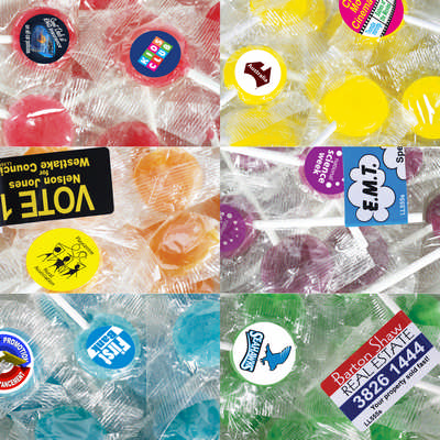 Corporate Colour Lollipops - (printed with 1 colour(s)) LL560_LLPRINT
