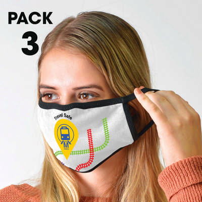 3 Pack - Shield Face Masks - (printed with 1 colour(s)) LL6052_LLPRINT