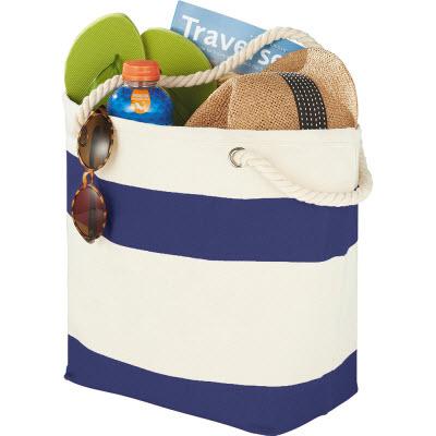 Capri Stripes Cotton Shopper Tote 5158BL_NOTT