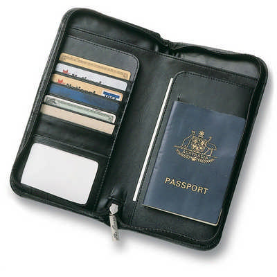 Leather Travel Wallet - (printed with 1 colour(s)) 9018_RNG_DEC