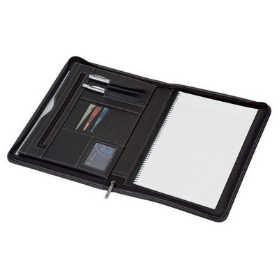 A4 Zippered Compendium - (printed with 1 colour(s)) 9078BK_RNG_DEC