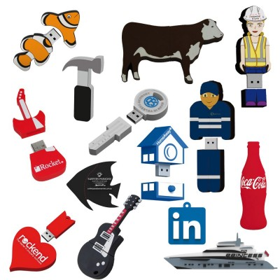 2D Custom Shape USB Flash Drive (25 Day) 16Gb - (printed with 1 colour(s)) USB2DPVC_16G-25Day