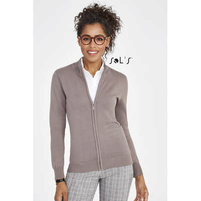 Gordon Womens Zipped Knitted Cardigan S00550_ORSO