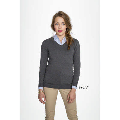 Glory Womens V-neck Sweater S01711_ORSO