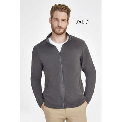 Norman Mens Plain Fleece Jacket S02093_ORSO