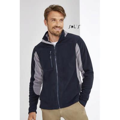 Nordic Mens Two-colour Zipped Fleece Jacket S55500_ORSO