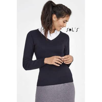 Galaxy Womens  V-neck Sweater S90010_ORSO