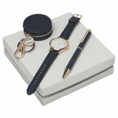 Cacharel Set Bagatelle Bleu (ballpoint Pen, Key Ring & Watch) CPBKN636N_ORSO